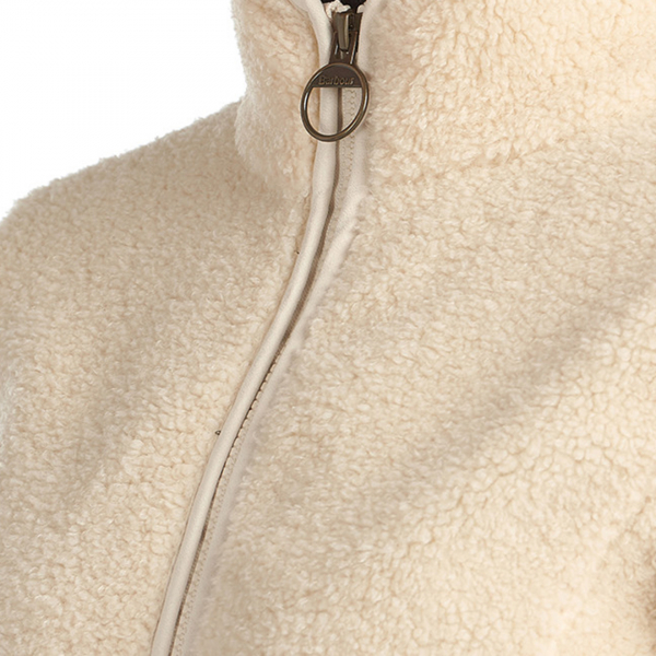 Barbour Womens Millhouse Fleece Jacket Winter Pearl / Olive