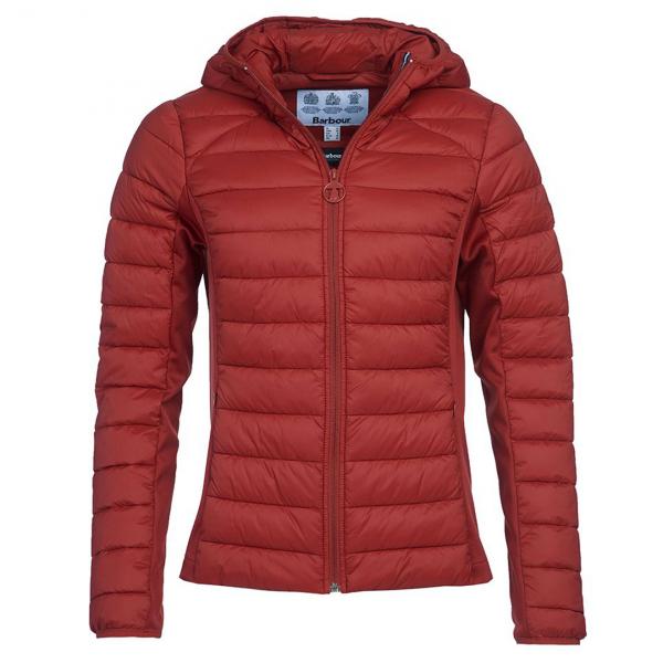 rbour Womens Murrelet Quilt Jacket Burnt Red