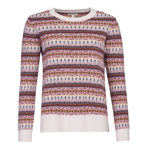 Barbour Womens Peak Knit Off White