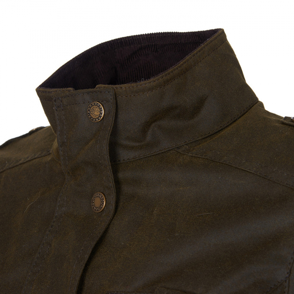Barbour Womens Winter Defence Wax Jacket Olive / Classic