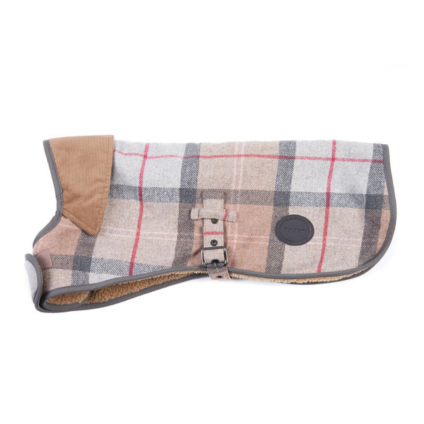 Barbour Wool Dog Coat Taupe / Pink