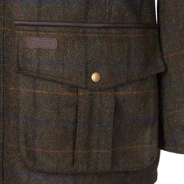 Barbour Woolsington Wool Tweed Jacket Olive Check