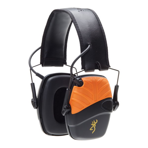 Browning Xtra Protection Electronic Ear Protection Black / Orange