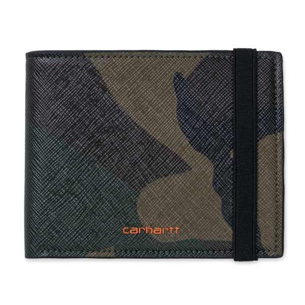Carhartt Coated Billfold Wallet Camo Laurel / Orange