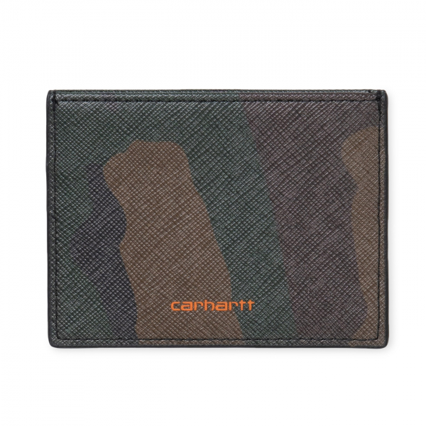 Carhartt Coated Card Holder Camo Laurel / Orange
