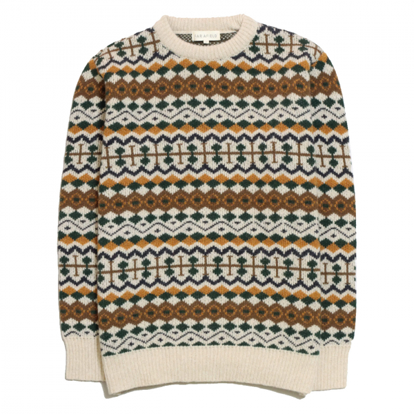 Far Afield Fair Isle Fine Wool Knit Multi