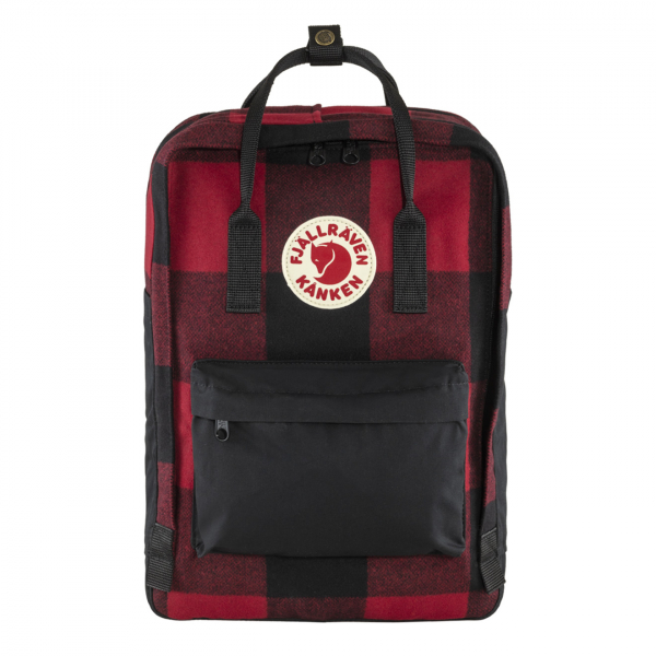"Fjallraven Kanken Re-Wool Laptop 15"" Red / Black"