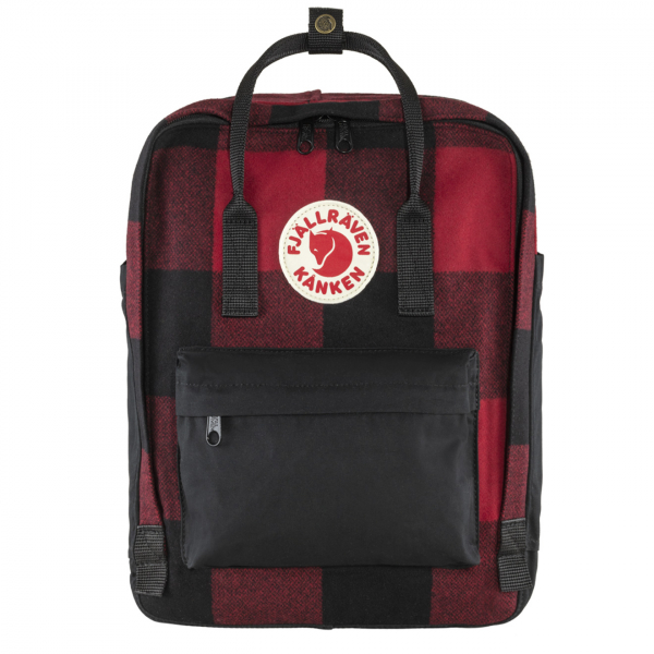 Fjallraven Kanken Re-Wool Red / Black