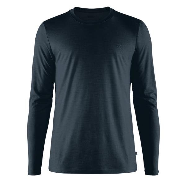 Fjallraven Abisko Wool LS T-Shirt Dark Navy