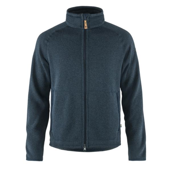 Fjallraven Ovik Fleece Zip Sweater Navy