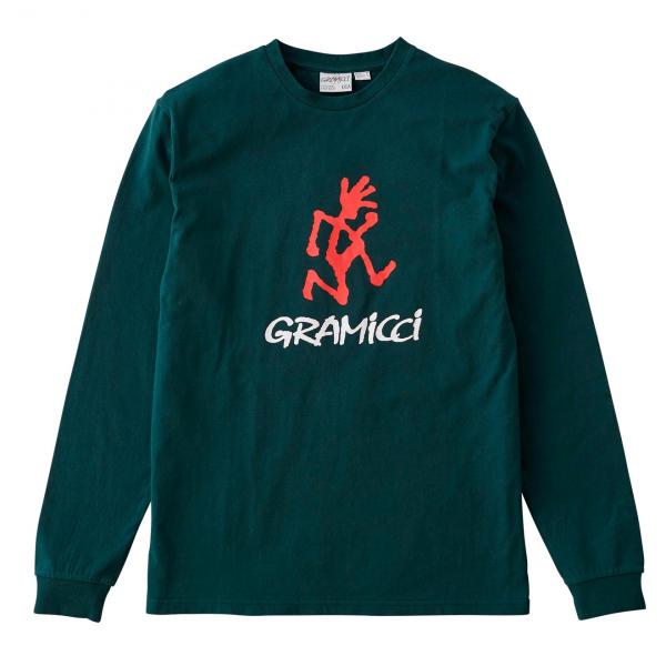 Gramicci Running Man L/S Print Back Tee Deep Forest