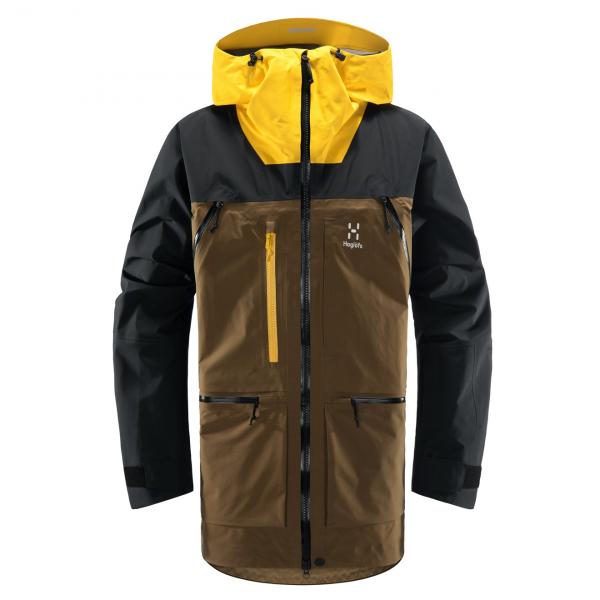 Haglofs Vassi GTX Pro Jacket Teak Brown / Pumpkin Yellow