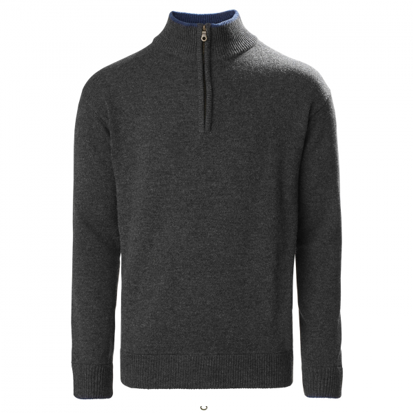 Musto Country Zip Neck Knit Charcoal