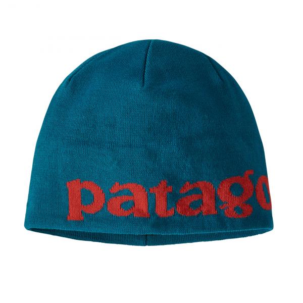 Patagonia Beanie Hat Logo Belwe / Crater Blue