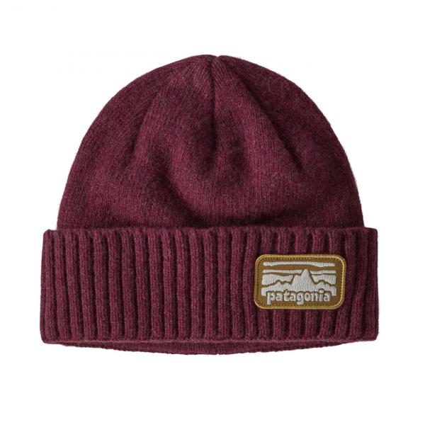 Patagonia Brodeo Beanie Hat Fitz Roy Rampler Chicory Red