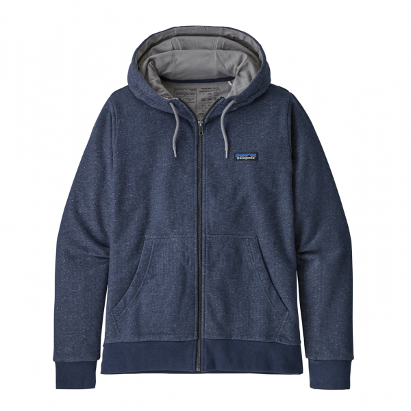 Patagonia P-6 Label French Terry Full Zip Hoody Navy Blue