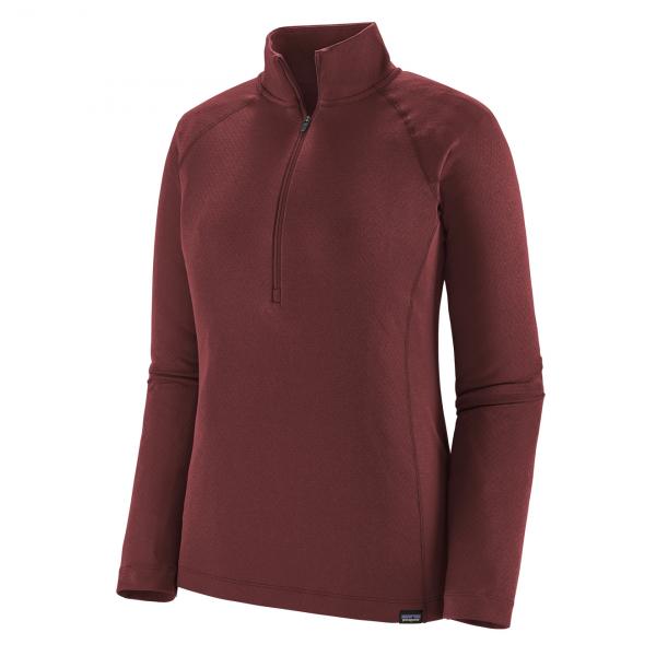 Patagonia Womens Capilene Midweight Zip Neck T-Shirt Chicory Red