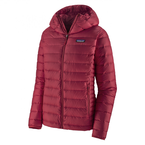 Patagonia Womens Down Sweater Hoody Jacket Roamer Red