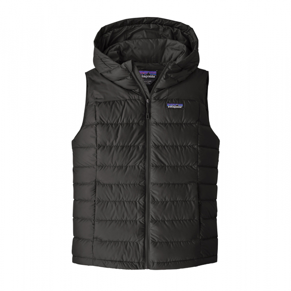 Patagonia Womens Hi-Loft Down Hooded Vest Black