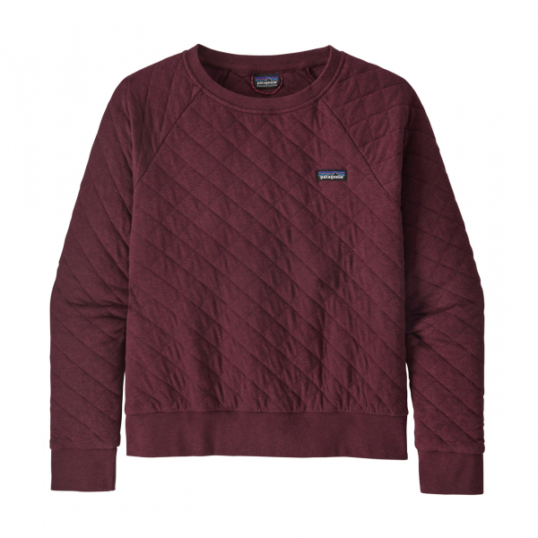 Patagonia Womens Organic Cotton Quilt Crew Sweat Chicory Red