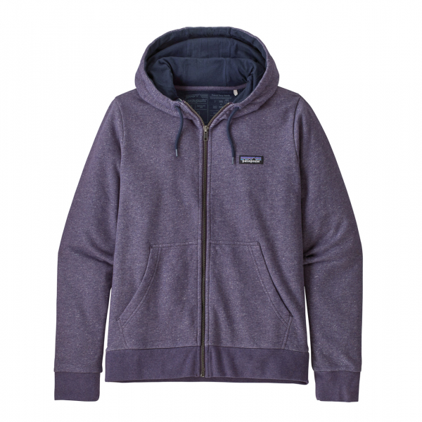 Patagonia Womens P-6 Label French Terry Full Zip Hoody Pilton Purple