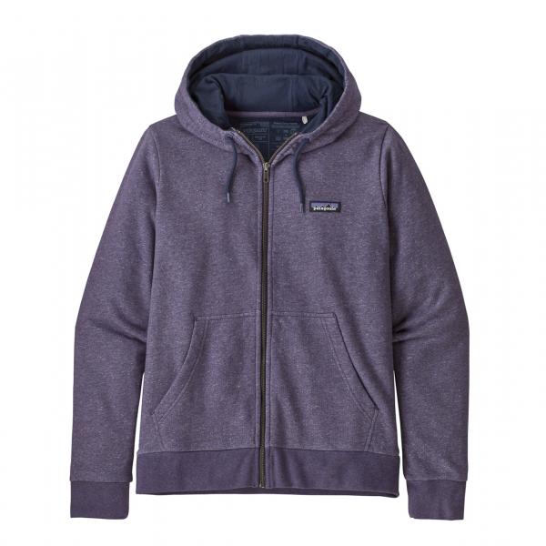 Patagonia Womens P-6 Label French Terry Full Zip Hoody Pilton Purple