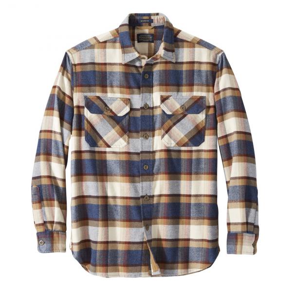 Pendleton Burnside Flannel Shirt Blue / Henna / Cream Plaid