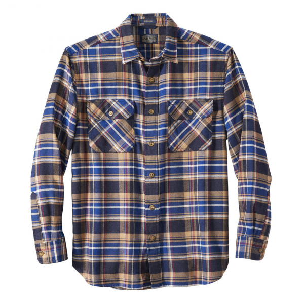 Pendleton Burnside Flannel Shirt Navy / Blue / Red Plaid