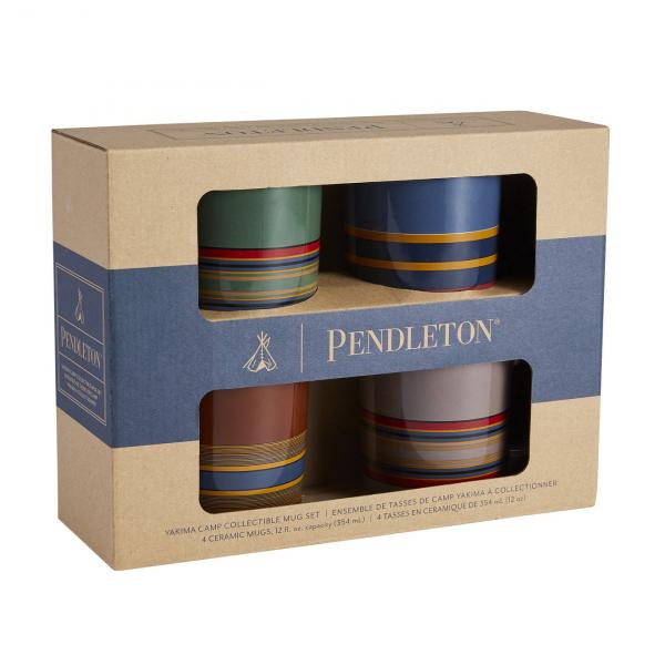 Pendleton Ceramic Mug Set of 4 Camp Stripe