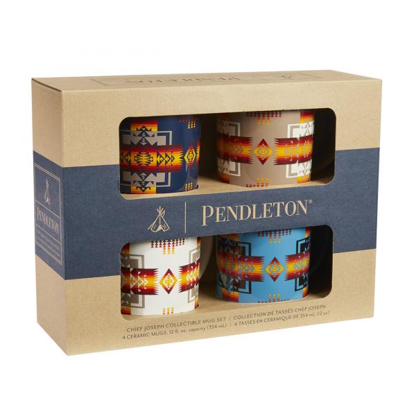 Pendleton Ceramic Mug Set of 4 Chief Joseph Multi