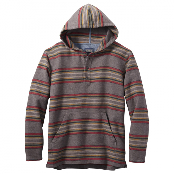 Pendleton Driftwood Hooded Flannel Sweat Mineral / Umber Stripe