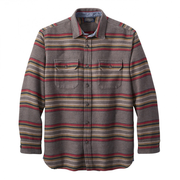 Pendleton Driftwood L/S Stripe Shirt Mineral / Umber Stripe