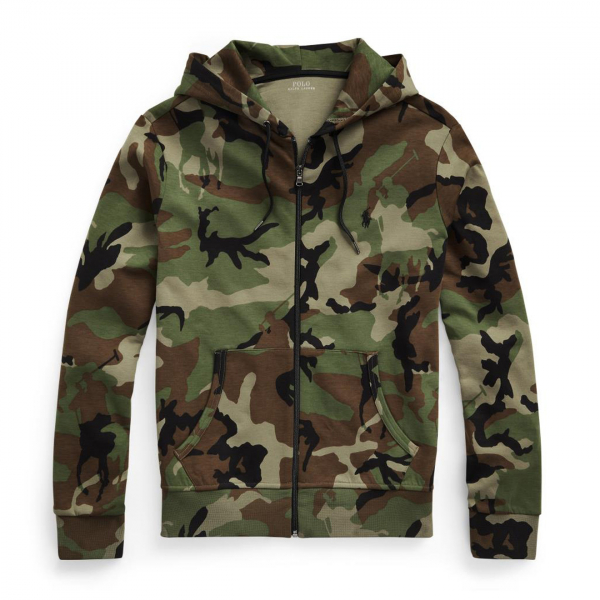 Polo Ralph Lauren Hooded Zip Thru Sweat Camo