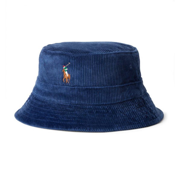 Polo Ralph Lauren Loft Corduroy Bucket Hat Navy