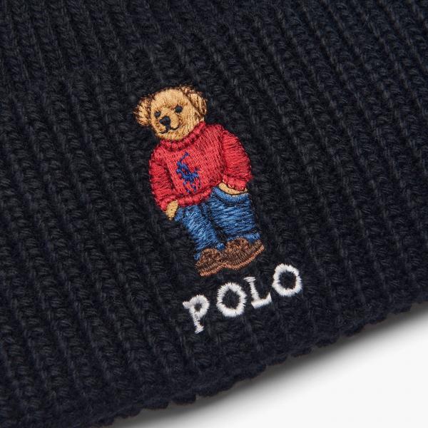 Polo Ralph Lauren Polo Bear Beanie Hat Black