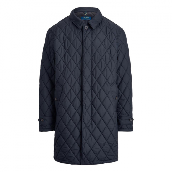 Polo Ralph Lauren Quilted Walking Long Coat Navy