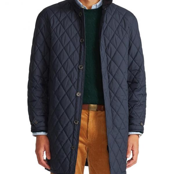 Polo Ralph Lauren Quilted Walking Long Coat Navy