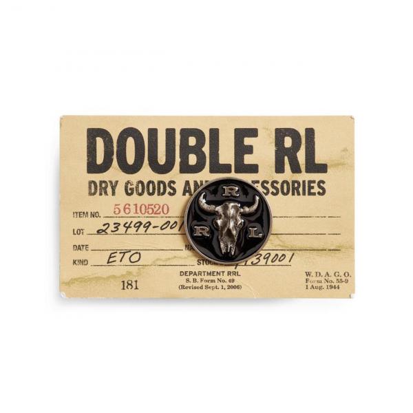 RRL by Ralph Lauren Longhorn Pin Black / Silver