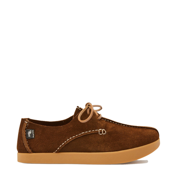 Yogi Lennon Hairy Suede Lace Up Dark Brown