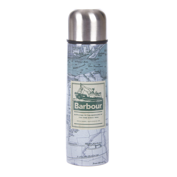 Barbour Archive Map Insulated Flask Green Map