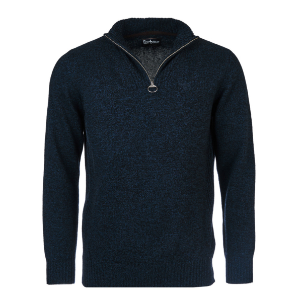 Barbour Essential Lambswool Half Zip Sweater Navy Mix