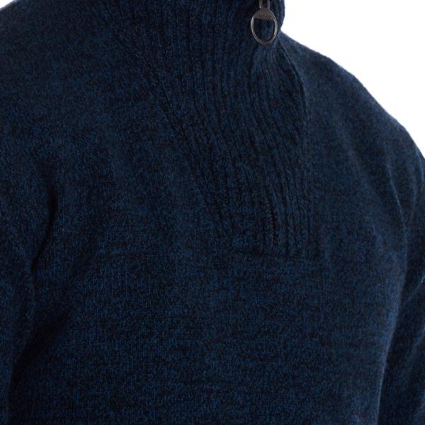 Barbour Essential Lambswool Half Zip Sweater Navy Mix