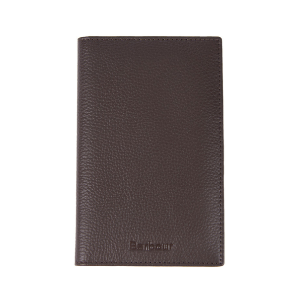 Barbour Kilnsey Leather Passport Cover Dark Brown / Classic Tartan