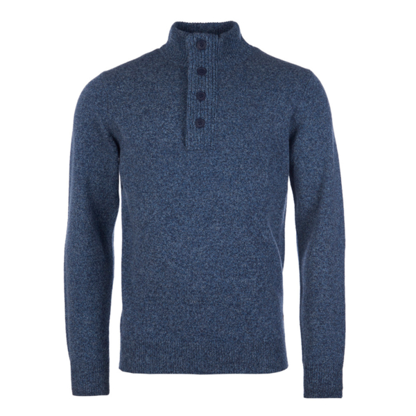 Barbour Patch Half Zip Inky Blue