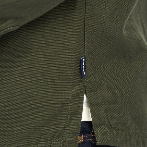 Barbour Wingate L/S Overshirt Bleached Olive Barbour Label to the Left Side Seam