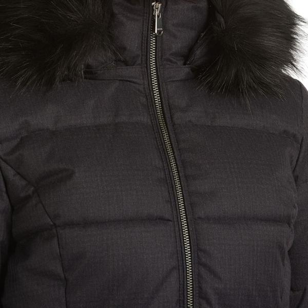 Barbour Womens Oykel Quilt Jacket Black Silver Metal Zip