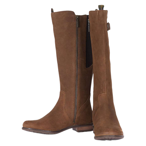 Barbour Rebecca Boot Brown Suede With Pull Tabs