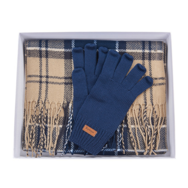 Barbour Womens Tartan Scarf / Glove Set Tempest