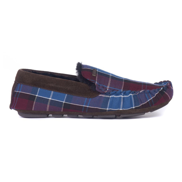 Barbour Monty Slippers Malbec Tartan