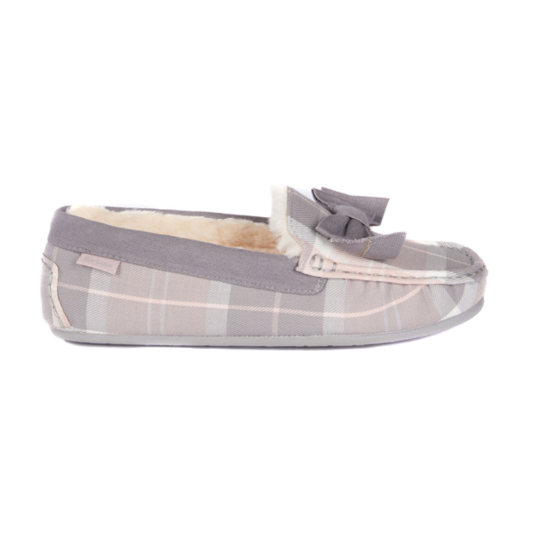 Barbour Sadie Mocassin Slipper Pink / Grey